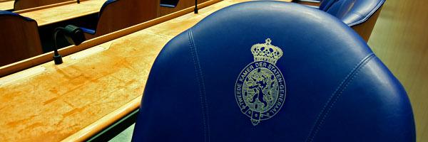 DEN HAAG - Zetels Tweede Kamer in Den Haag. ANP PHOTO ED OUDENAARDEN