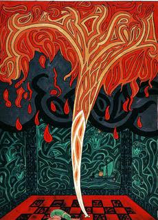 C.G. Jung en de ziel Tekening uit Het Rode Boek